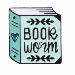 Jewelry - 🛑S A L E🛑Book Worm Enamel Pin Lover Read Reading